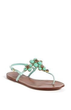 Free shipping and returns on Tory Burch 'Jameson' Thong Sandal at Nordstrom.com. A slender-strapped sandal gets a boost of bling from faceted beads and smooth baubles.