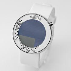PARTIME classic WMW white Armbanduhr, die digitale Sanduhr - arshabitandi. Der DesignVersand - Geschenke online kaufen!