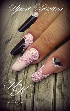 way too long for my taste, but perfect designs for a bridal mani...just make sure the ring finger gets the most attention
