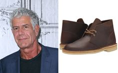 Anthony Bourdain in Clarks Desert Boots Clarks Desert Boot Women, Desert Boots Women, Anthony Bordain, Anthony Michael, Travel Shoes, Comfy Shoes, Trendy Shoes, Mens Fashion, Stylish
