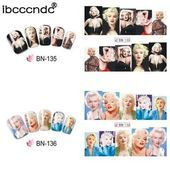 1 Set Retro Marilyn Monroe Nail Art Tool Water Transfer Nail Sticker Decals Beauty Decoration Designs DIY Color Tattoo Tips Nail Decals, Nail Stickers, Cheap Stickers, Water Transfer, Types Of Nails, Nail Art Tools, Nail Decorations, Color Tattoo, Nail Tips