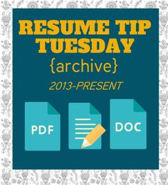 Resume Tips Galore! (Pin now, read later)