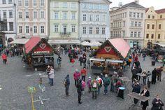 Um dos muitos mercados de Natal espalhados pela cidade