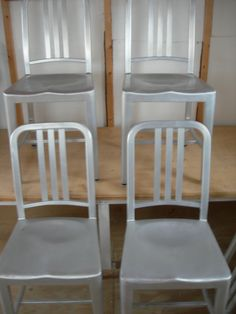 EMECO Aluminum Navy Style 1006 Vg Condition / SET 4 By VEEJAYB