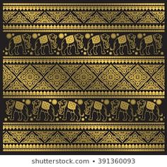 Find thai pattern stock images in HD and millions of other royalty-free stock photos, illustrations and vectors in the Shutterstock collection. Thousands of new, high-quality pictures added every day. Art Background, Background Patterns, Thai Pattern, Thai Art, Elephant Pattern, Pattern Images, Thai Style, En Stock, Gold Print