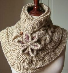 This Knitted Moon Flower Scarf will make a beautiful versatile addition to your wardrobe and it's a FREE Pattern! You'll also love the Knitted Cable Knee High Slipper Boots.