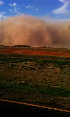 """""""Brown Monday""""  Dust storm that rolled into Lubbock, TX on Oct. 17th."""