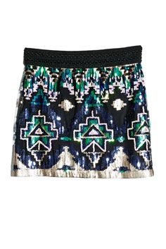 Geometric Sequin Skirt | GUESS by Marciano Girls #GUESSKids #MarcianoGirls