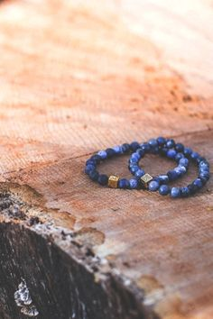 """Aurum Brothers provides men with custom luxury bracelets made with exceptional gemstones from ancient times, that are the perfect combination of durability and comfort.    Minimal Gold Matte Sodalite - $119.00  Click here to buy your own bracelet.    Use """"vividessentials"""" for a 10% discount!"""