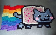 Nyan Cat crochet blanket