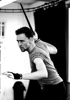 Tom Hiddleston in rehearsals for Coriolanus, Donmar Warehouse, 2014