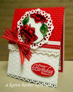 THE RED AND THE WHITE by Karen B Barber - Cards and Paper Crafts at Splitcoaststampers