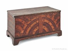 Painted poplar blanket chest, ca. 1830, signed J.Saul Ashland