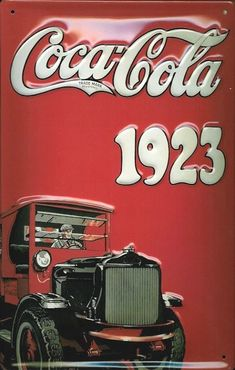 Buy this Coca Cola Truck 1923 Vintage Metal Sign for your Pub or Home Bar