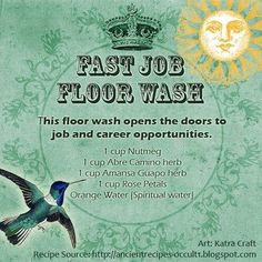 Fast Job Floor Wash #CroweFeatherWitchDownunder
