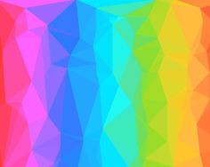 Rainbow Polygons Wallpaper
