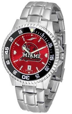Miami University Of Ohio Redhawks Competitor Anochrome - Steel Band W/ Colored Bezel - Men's - Men's College Watches by Sports Memorabilia. $87.08. Makes a Great Gift!. Miami University Of Ohio Redhawks Competitor Anochrome - Steel Band W/ Colored Bezel - Men's