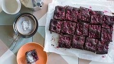 Anneka Manning's gluten-free coconut and raspberry brownies. Check out our Bakeproof column for tips and recipes.