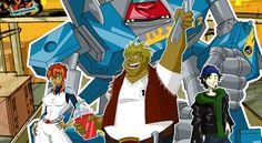 Megas XLR (idem no original), um acrônimo em inglês para Mechanized Earth Guard Attack System...