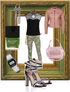 """""""sexy camo"""" by aliciadematteo ❤ liked on Polyvore"""