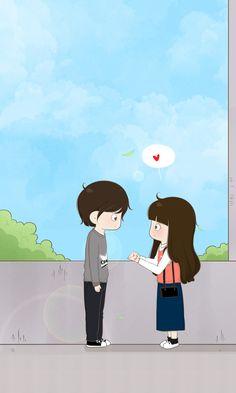 Love Cartoon Couple, Chibi Couple, Cute Love Cartoons, Anime Love Couple, Couple Illustration, Illustration Art, Anime Couples, Cute Couples, Drawings For Boyfriend