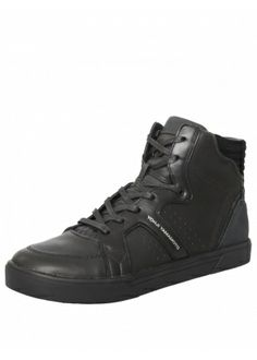 Y-3 RYDGE LEATHER HIGH TOP TRAINERS BLACK £315 #sneakers #trainers #Y-3