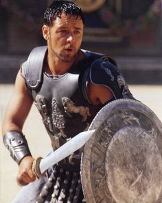 "Maximus Decimus Meridius - Nos morituri te salutant!""  -  ""We, who are about to die, salute you"".  Used by gladiators about to enter battle when speaking to the Roman emperor"