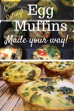 Clean Eating Egg muffins - made your way! Healthy breakfast idea! for the whole family!