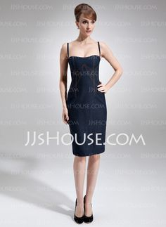 Cocktail Dresses - $161.99 - Sheath Sweetheart Knee-Length Satin Cocktail Dresses (016021001) http://jjshouse.com/Sheath-Sweetheart-Knee-Length-Satin-Cocktail-Dresses-016021001-g21001