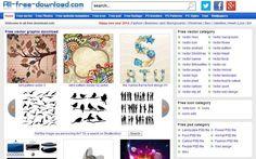 All Free Download es un sitio que funciona como meta buscador para encontrar recursos gráficos gratuitos: iconos, plantillas, vectores, tipografías, etc.