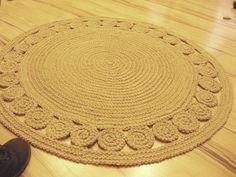 """40"""" Unique decorative jute rug round Rag Rug / Braided"""