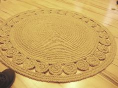 "40"" Unique decorative jute rug round Rag Rug / Braided"