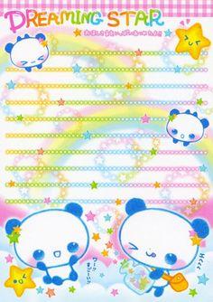 kawaii colorful memo paper - Dreaming Star