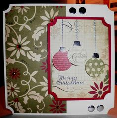 25 Days Of Christmas paper pad by Simple Stories. Pearls by Meiflower. Card Candi by Craftwork Cards.