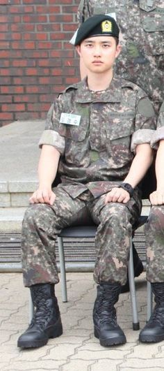 The Korea Army Training Center has released new photos of EXO's D.O and his military life.