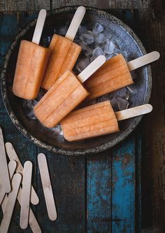 Cantaloupe, Basil, & Lillet Popsicles