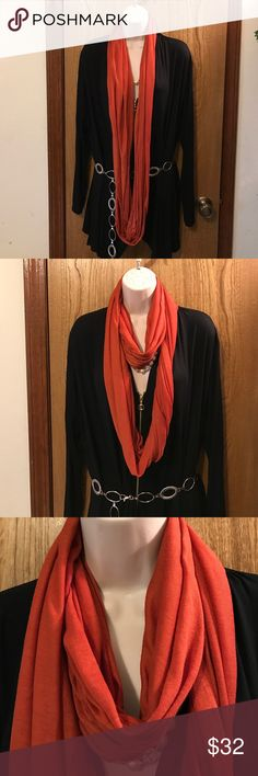 Beautiful Rusty Brown Scraf Wrap🎁💐🌹 Beautiful Rusty Brown Scraf Wrap🎁💐🌹 Used one time, comes from a non-smoking home pet free. Very slimming, I ship Monday Wednesday Friday. Dazzle Boutique Accessories Scarves & Wraps