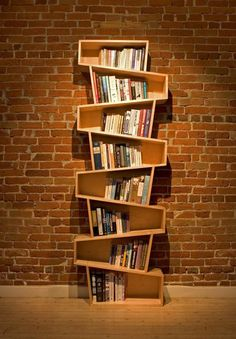 Switchback bookcase - 60 Creative Bookshelf Ideas <3 <3