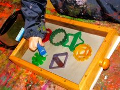 Irresistible Ideas for play based learning » Blog Archive » nail brush splatter painting