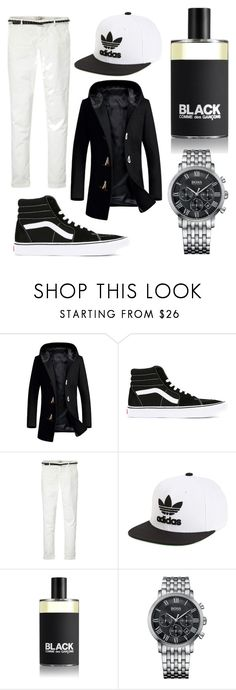"""""""Untitled #13"""" by aldinkooo ❤ liked on Polyvore featuring Vans, Maison Scotch, adidas, Comme des Garçons, HUGO, men's fashion and menswear"""
