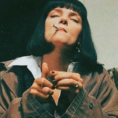 B E L K I S ~``'s favorite images from the web People Smoking, Women Smoking, Girl Smoking, Bad Girl Aesthetic, Retro Aesthetic, Cigarette Aesthetic, Mia Wallace, Uma Thurman, Pulp Fiction