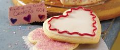 Who wouldn't love delicious decorated heart-shaped sugar cookies?