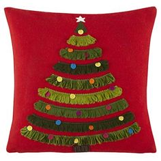 Kids Throw Pillows: Christmas Tree Throw Pillow in All New