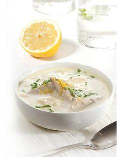Zupa cytrynowa z kaszą jaglaną i kurczakiem #obiad #przepisy #zupa #kurczak #kasza #migdały #POLOmarket