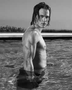 Taylor Kitsch mmm... It isn't going to happen, but he is the only person I want to be Finnick in Catching Fire/Mockingjay.