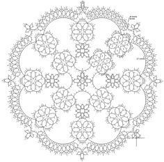 Free Tatting Patterns Beginners | Pinwheel Tatted Doily