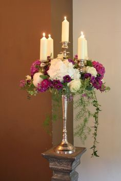 Flower Design Events: The Perfectly Purple Wedding Day of Sarah & Greg at Bartle Hall