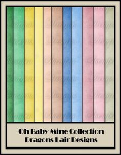 Oh Baby Mine Collection - Plain 12 x 12 Papers