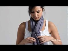 How to Tie a Spring Scarf -- EILEEN FISHER- this is my go to for now on! Now I know how the Europeans keep their scarfs their necks. :)