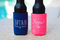 Double sided print. Choice of colors, navy, neon pink or aqua. Light pink has been retired and available quantities are limited! coozie